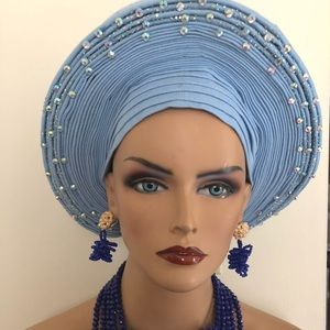 Embellished Pre tied African Head wrap